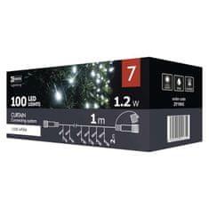 Emos Curtain povezovalni niz, 100 LED, zavesa, 1 x 2 m, hladna bela