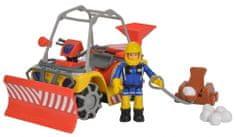 Simba Požárník Sam zimní čtyřkolka Mercury s figurkou
