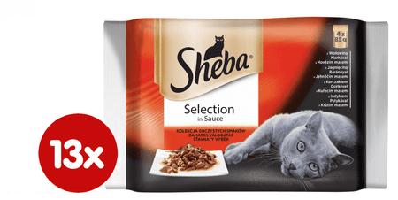 Sheba Selection Alutasakos macskaeledel válogatás, 13 x (4 x 85 g)