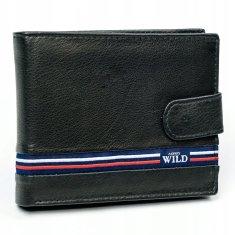 Always Wild Exkluzivní kožená pánská peněženka Nino černá