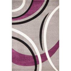 Nazar kusový koberec Havana, fialovo/černo/šedý, 120x170 cm