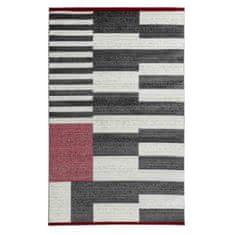 Nazar kusový koberec s designovým vzorem - 160 x 230 cm, červená