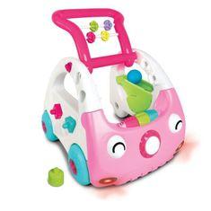 Infantino chodítko auto 3v1 Discovery Car