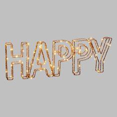 Cdiscount světelný 3D nápis HAPPY