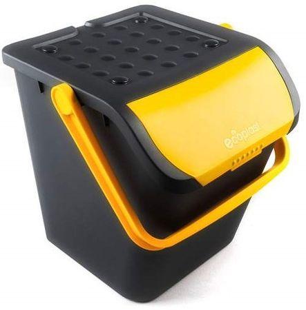 BRILANZ Eco koš za sortiranje odpadkov, 35 l, rumen
