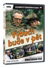 Výbuch bude v pět - edice KLENOTY ČESKÉHO FILMU (remasterovaná verze) - DVD