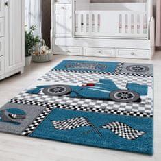 Jutex Detský koberec Kids 460 modrý, Rozmery 1.70 x 1.20