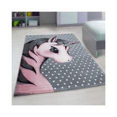 Jutex Detský koberec Kids 590 ružový, Rozmery 1.70 x 1.20