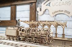 UGEARS Lokomotíva s nástupišťom a rampami