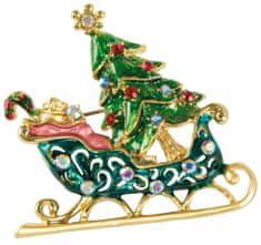 Goebel Vánoční brož Saně