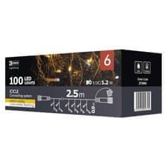 Emos Icicle povezovalni niz, zavesa, 100 LED, 2,5 m, hladna bela, časovnik - Odprta embalaža