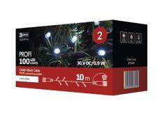 Emos Profi božična razsvetljava, 100 LED, 10 m, črn, hladna bela