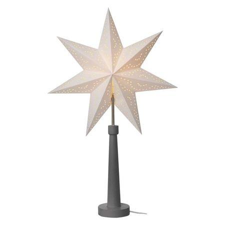Emos Star zvezda na stojalu, papirnata, 46 x 70 cm, siva