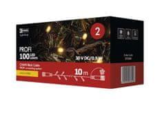 Emos Profi božična razsvetljava, 100 LED, 10 m, črn, IP44, topla bela