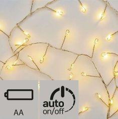 Emos božična razsvetljava, Nano, grozd, 100 LED, 2,4 m, topla bela