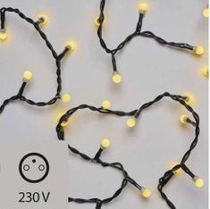 Emos božična razsvetljava, češnje, 100 LED, 5 m, IP20, topla bela