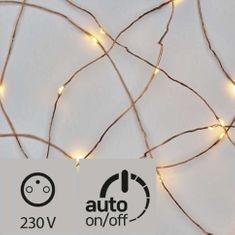 Emos božična razsvetljava, Nano, 100 LED, bronasta, 10 m, topla bela, timer