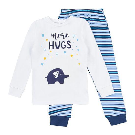 Garnamama chlapčenské svietiace pyžamo Neon, 86, biele, modré