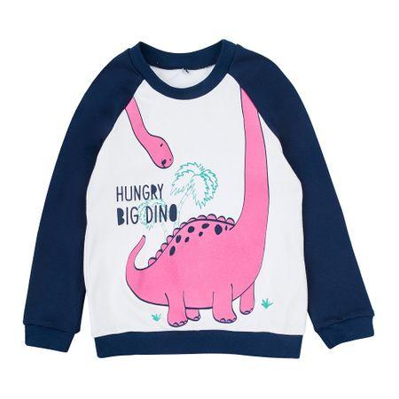Garnamama Happy Monster pulover za djevojčice, bijelo-plavi, 98