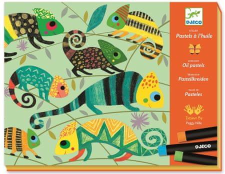 Djeco Výtvarná sada s olejovým pastelem Barevná jungle