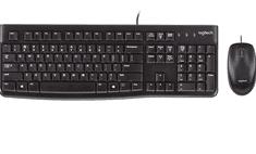 Logitech tipkovnica in miška Deskop MK120, USB, US