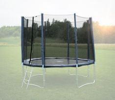 Goodjump Ochranná síť na trampolínu 400 cm - PVC - na 8 trubek- modrá