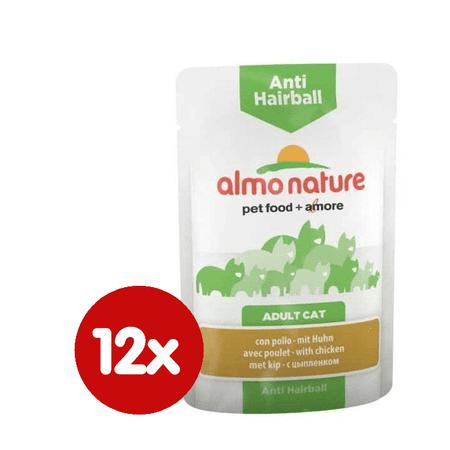 Almo Nature mačja hrana Functional WET Anti-Hairball - piščanec 12 x 70 g