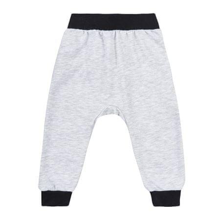 Garnamama O! kids clothing Bunny otroške hlače, sive, 69 - 74