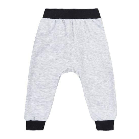 Garnamama detské tepláky O! kids clothing Bunny 75 - 80 sivá