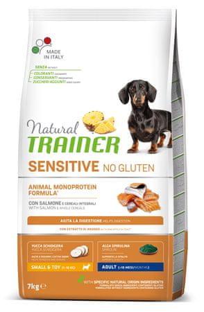 TRAINER Natural Sensitive No gluten Adult Mini briketi za odrasle pse, losos, 7 kg