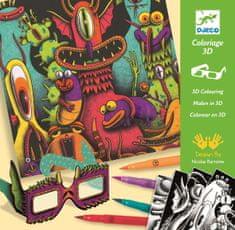 Djeco 3D maľovanky Zábavné príšerky