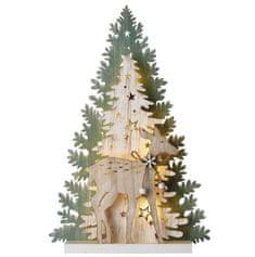 Emos božično drevo dekoracija, LED, 23 cm, 2 x AA, toplo bela, timer