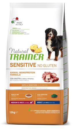 TRAINER Natural Sensitive No gluten Adult M/M briketi za odrasle pse, raca, 12 kg