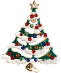 Goebel Vánoční brož Barevný stromeček