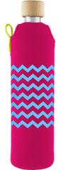 Drinkit Skleněná láhev s neoprénovým obalem Kolorka 500ml