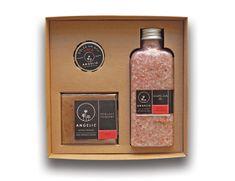 Angelic Dárková krabička Angelic Koupelová sůl Růžové pohlazení