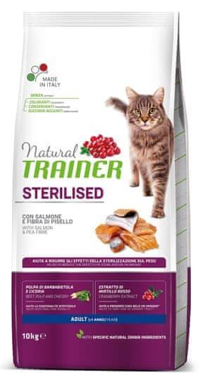 TRAINER Natural Cat STERILISED losos 10 kg
