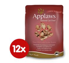 Applaws Macskaeledel, 12x70g, Tonhal-garnéla rák