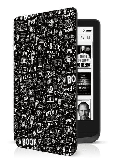 Connect IT Doodle pouzdro pro PocketBook 616/627, ČERNÉ, CEB-1076-DD