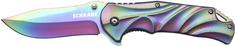 Schrade SCH509R Rainbow Titanium Coated 9Cr18MoV Steel, Aluminum Handle, Liner Lock, Thumb Studs