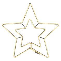 Emos Star Frame dekoracija, dvojna zvezda, 288 LED, toplo bela