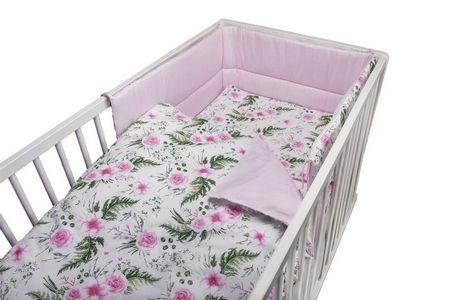 COSING 3-dijelni set posteljine, cvjetni uzorak, roza