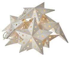 EMOS božična girlanda, zvijezde, 10 LED, 2 x AA, toplo bijela, tajmer