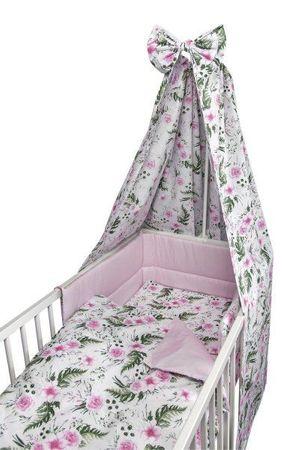 COSING Comfort, 4-delni set posteljnine, cvetlični vzorec, roza