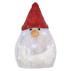 Emos Xmas Snowman dekoracija, snežak, 3 AA, 30 LED, hladno bela