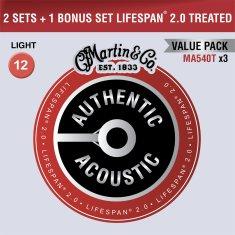 Martin Authentic Lifespan 2.0 92/8 Phosphor Bronze Light - Limited 3 Packs Kovové struny na akustickú gitaru