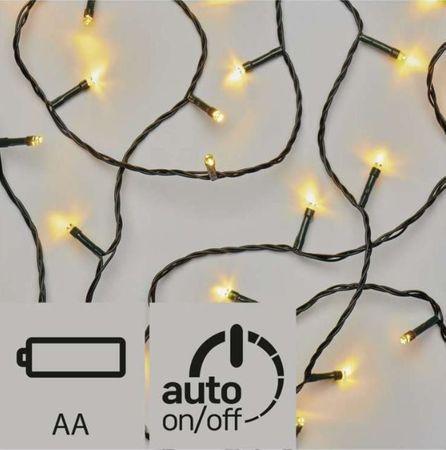Emos božična razsvetljava, 120 LED, 3 x AA, zunanja, toplo bela, časovnik
