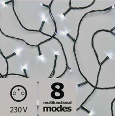 Emos božična razsvetljava, 120 LED, 12 m, hladno bela, program