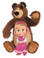 SIMBA zestaw do gry Masza i Niedźwiedź - pluszowy niedźwiedź 43 cm i lalka Maszy 23 cm
