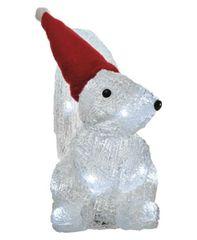 Emos božična dekoracija, veverica, 16 LED, 22 cm, 3 x AA, hladno bela, časovnik